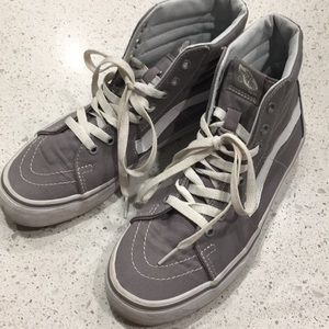 VANS gray Sk8-Hi, women's 9 /men's 7.5